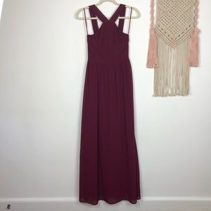 LULUS Air of Romance maxi formal dress size XS